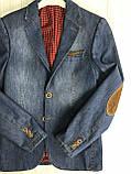 Пиджак джинсовый для мальчика на 146см, фото 2