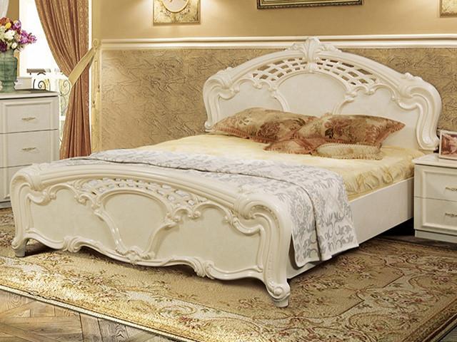 Ліжко з ДСП/МДФ в спальню беж Олімпія 1,8х2,0 підйомне з каркасом Миро-Марк