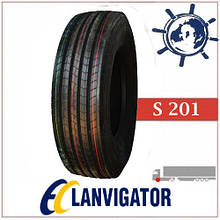 Грузовые шины 265/70R19.5 140/138M S201 LANVIGATOR рулевая, усиленные грузовые шины на переднюю ось грузовика
