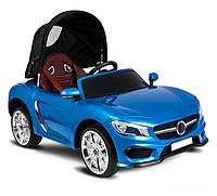 Электромобиль детский Кабриолет с крышей цвет синий