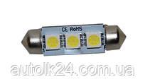 LED лампа C5W CANBUS 39мм 3 SMD5050 12V