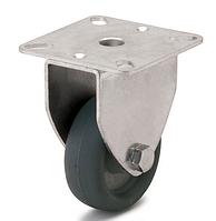 Колесо с неповоротным кронштейном, диаметр 100 мм, нагрузка 75 кг