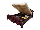 Ліжко з ДСП/МДФ в спальню рубіно Олімпія 1,8х2,0 підйомне з каркасом Миро-Марк, фото 3