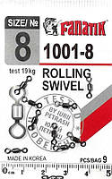 Вертлюг FANATIK Rolling SW 1001-8 тест 19 кг