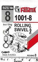 Вертлюг FANATIK Rolling SW 1001-8 тест 19 кг, фото 1