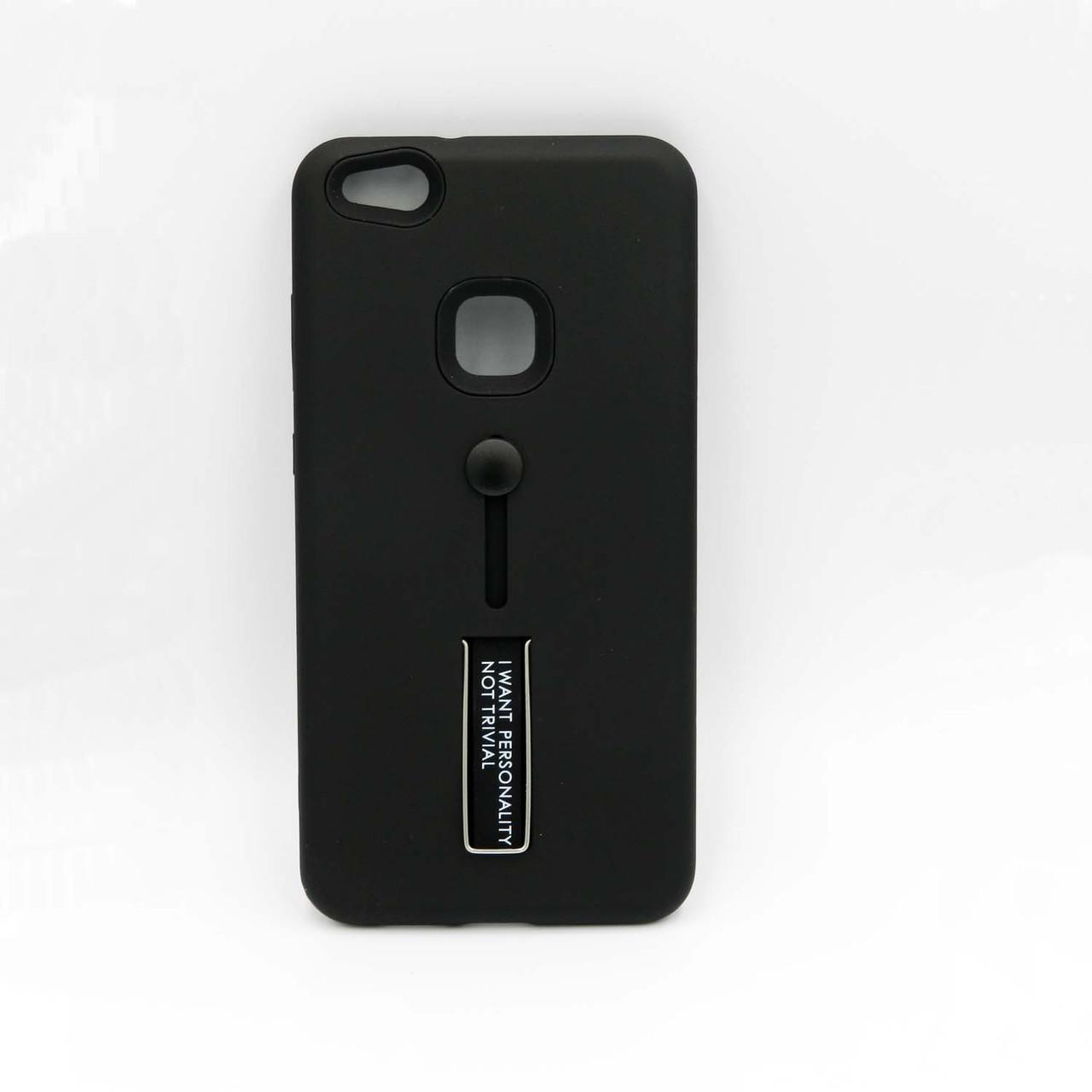 Чохол накладка для Huawei P10 Lite силікон і пластик, IWPNT, чорний