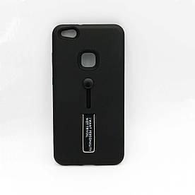 Чехол накладка для Huawei P10 Lite силикон и пластик, IWPNT, черный