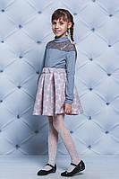 Юбка для девочки неопрен фиалка персик, фото 1