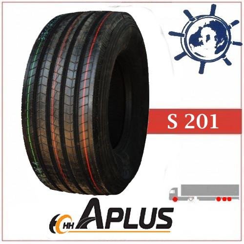 APLUS S201 шина 385/65R22.5 160L рулевая, грузовые шины на рулевую и прицепную ось 20PR