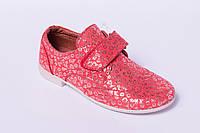 Подростковые туфли на липучке, детская кожаная обувь от производителя модель ДЖ5004