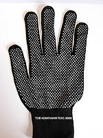 Перчатки нейлоновые черные с белой микроточкой, фото 1