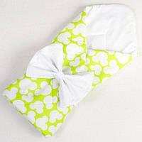 Конверт - одеяло демисезонный BabySoon Яркий Микки 80 х 85см салатовый