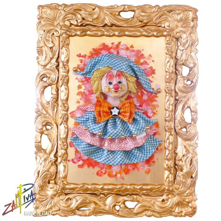 Картина из фарфора «Клоун девочка» Zampiva, 80х60 см (96000)