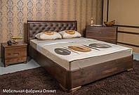 """Кровать деревянная """"Милена Premium с мягкой спинкой"""" 1,4"""