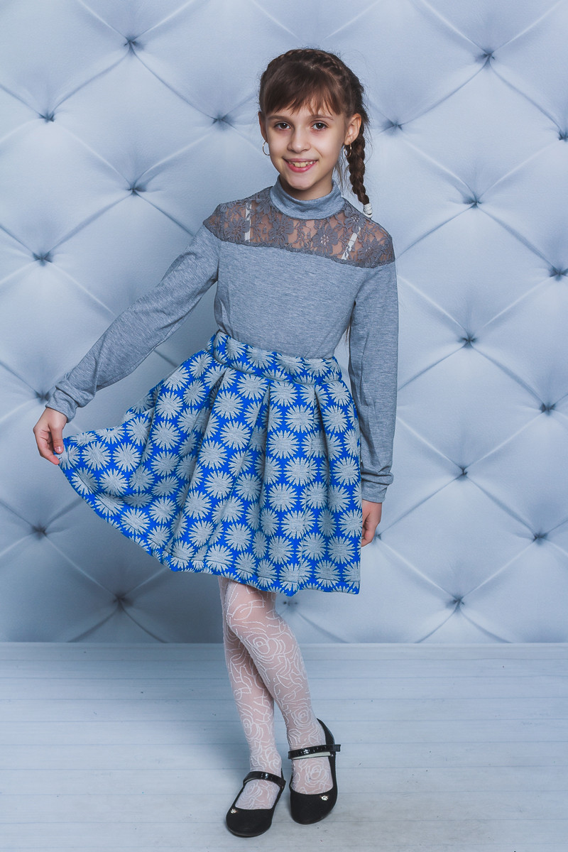 Юбка для девочки неопрен фиалка синяя