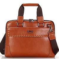 Сумка портфель мужская Jeep (коричневая), фото 1