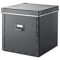 ФЬЕЛЛА Коробка с крышкой, темно-серый, 30x30x30 см, 90374537, IKEA, ИКЕА, FJÄLLA