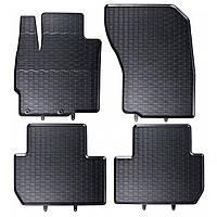 Килими гумові для автомобіля CITROENC4 AIRCROSS (2012 - ….)колір чорний