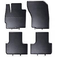 Килими гумові для автомобіля CITROENC-CROSSER (2007 - 2012)колір чорний