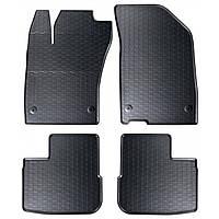Килими гумові для автомобіля FIATTIPO hatchback/kombi (2016 - ….)колір чорний