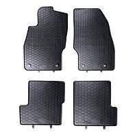 Килими гумові для автомобіля OPEL CORSA E  (2014 - ....)колір чорний