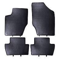 Килими гумові для автомобіля PEUGEOT 308 I (2007 - ....)колір чорний