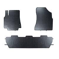 Килими гумові для автомобіля PEUGEOT PARTNER 2 pc. (2008 - ….)колір чорний