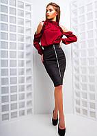 Костюмчик женский с шелковой блузочкой