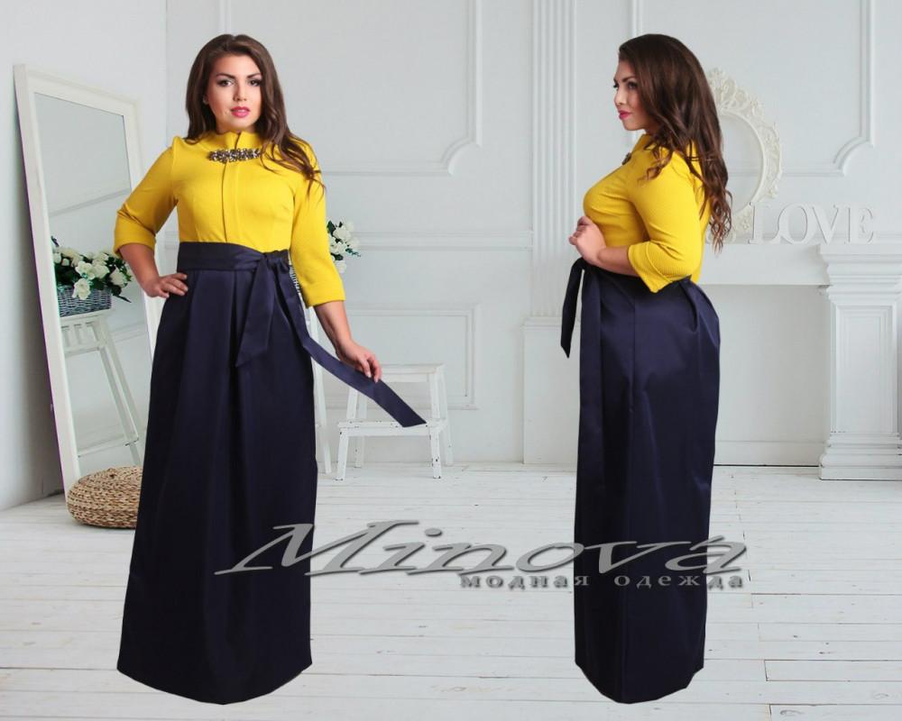 Шикарные платья в пол больших размеров (в расцветках)