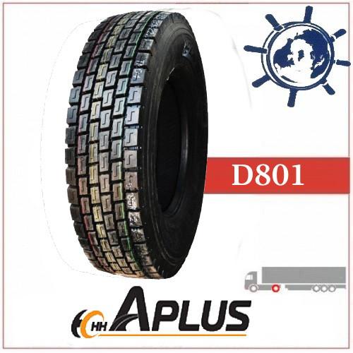 Шина 245/70R19.5 136/134M D801 Aplus ведуча, грузовые шины на ведущую ось грузовика, усиленные шины