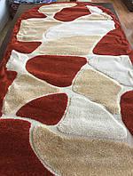 Терракотовый ворсистый ковер для спальни, фото 1