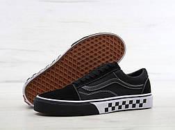 Кеды Vans Old Skool Bump checker black/white. Живое фото (Реплика ААА+)