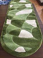 Ворсистый зеленый овальный ковер для дома, фото 1