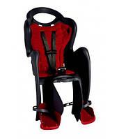 Сиденье задн. Bellelli MR FOX Standart B-Fix до 22кг, чёрное с красной подкладкой