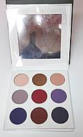 Тени для век Kylie Kishadow  Pressed Powder Eyeshadow с зеркалом 9 цветов