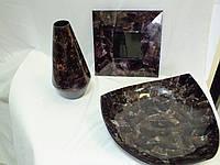 Декор  из натурального перламутра комплект