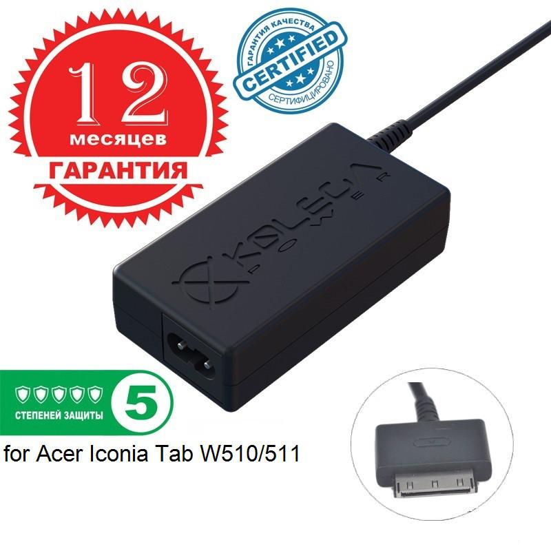 Блок питания Kolega-Power для ноутбука Acer 12V 1.5A 18W for Iconia Tab W510/511 (Гарантия 12 мес)