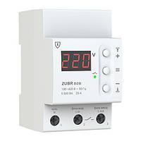 Реле контроля напряжения ZUBR D25t 25 А (max 30 А), 5 500 ВА