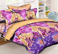 Подростковое полуторное постельное белье (1наволочка), Барби Марипоса, ранфорс 100%хлопок