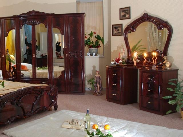 Стіл будуарний туалетний з ДСП/МДФ в спальню рубіно Олімпія 6Ш Миро-Марк