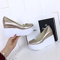 Туфли №Танкетка (натуралка) (р. 36-40).Оптом.