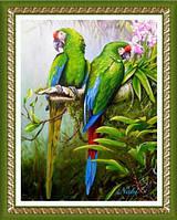 "Картина для рисования камнями ""Папуги"""