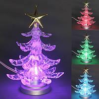 Цвет формы рождественской елки изменяющийся usb LED рождественское рождественское художественное оформление стола из дерева лампы ночника