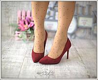 Туфли-лодочки красные замша женские