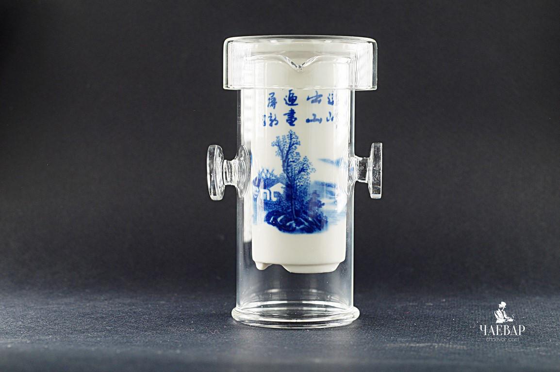 Заварочная гайвань-колба  150 мл, походная для чайной церемонии