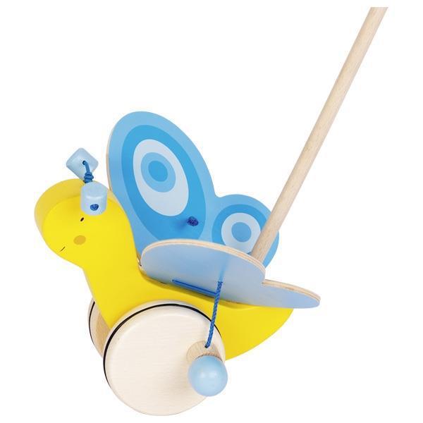Игрушка-толкатель бабочка goki 54995G желтый