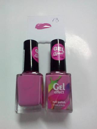 Лак для ногтей Jerden Gel Effect № 13 (grape cocktail) (9мл) , фото 2