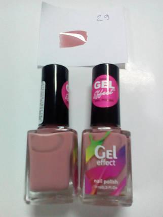 Gel Effect Лак для ногтей Jerden Gel Effect № 29 (светло-абрикосовый) (9мл) , фото 2