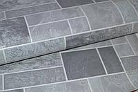 Обои, серые,  на стену, виниловые, Кипр МНК5 0665, супер-мойка, 0,53*10м