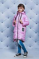 Пальто для девочки весна/осень розовая